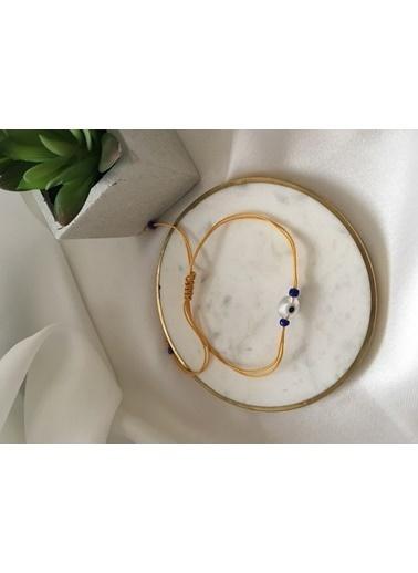 My Joyas Design Beyaz Nazar Boncuğu İp Bileklik & Halhal Renkli